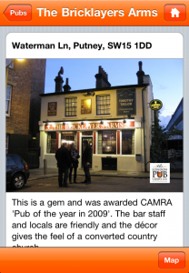 Top London pub app