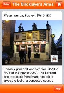 Top London pub app